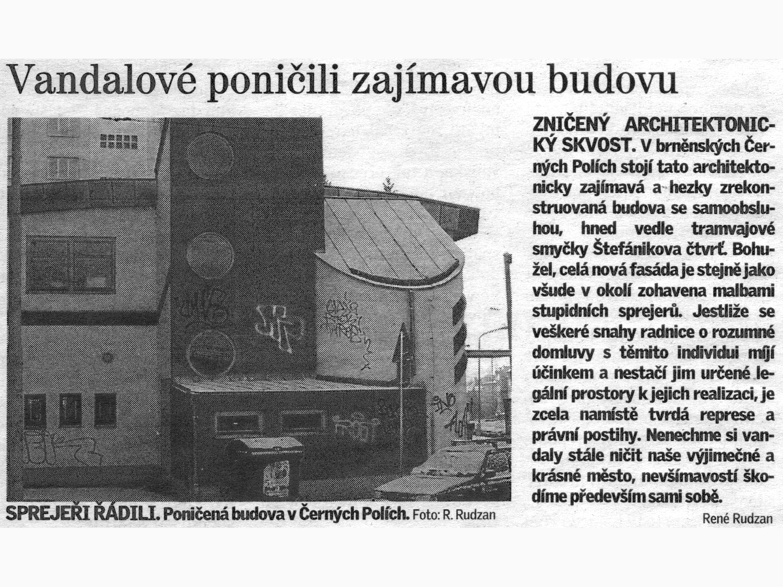 Vandalové poničili architektonický skvost